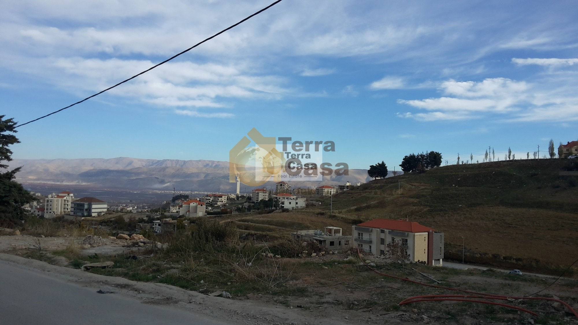 land for sale in zahle Rassieh with panoramic view and construction permit