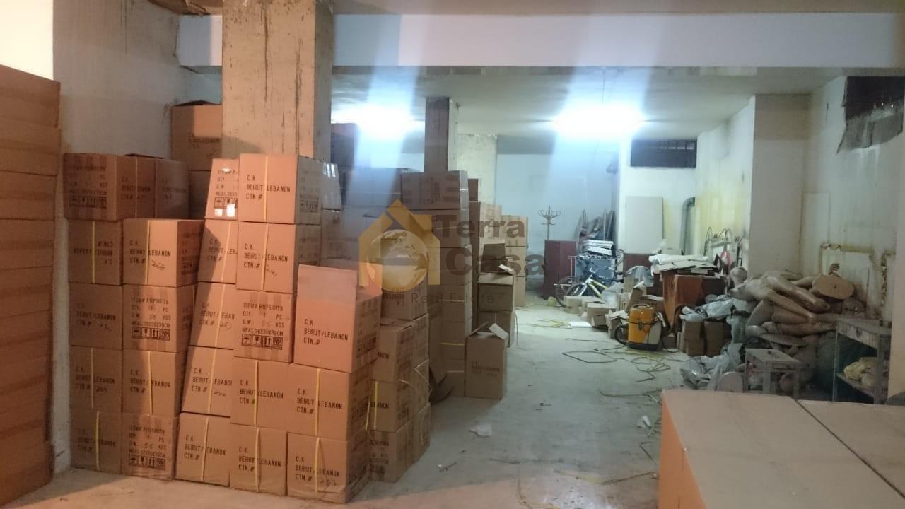 warehouse  haret el bellane with truck entrance banker cheque.