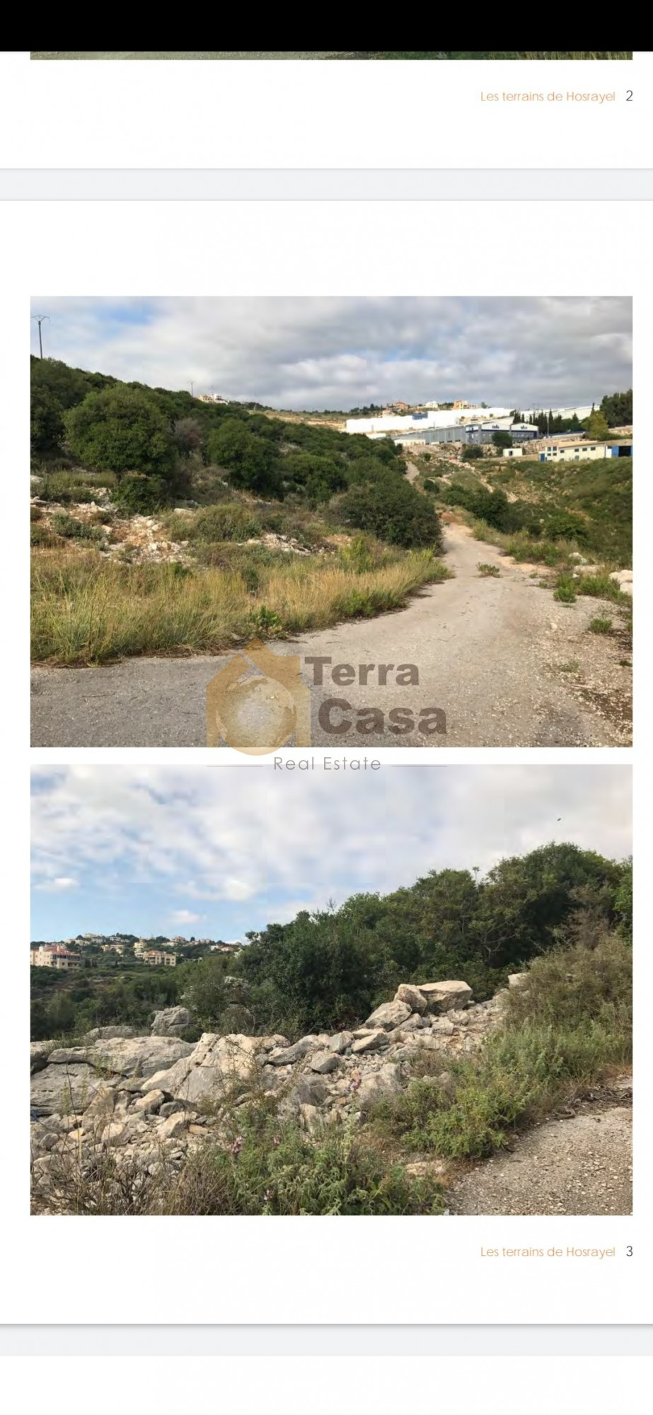 land in Hosrayel industrial zoning for sale.