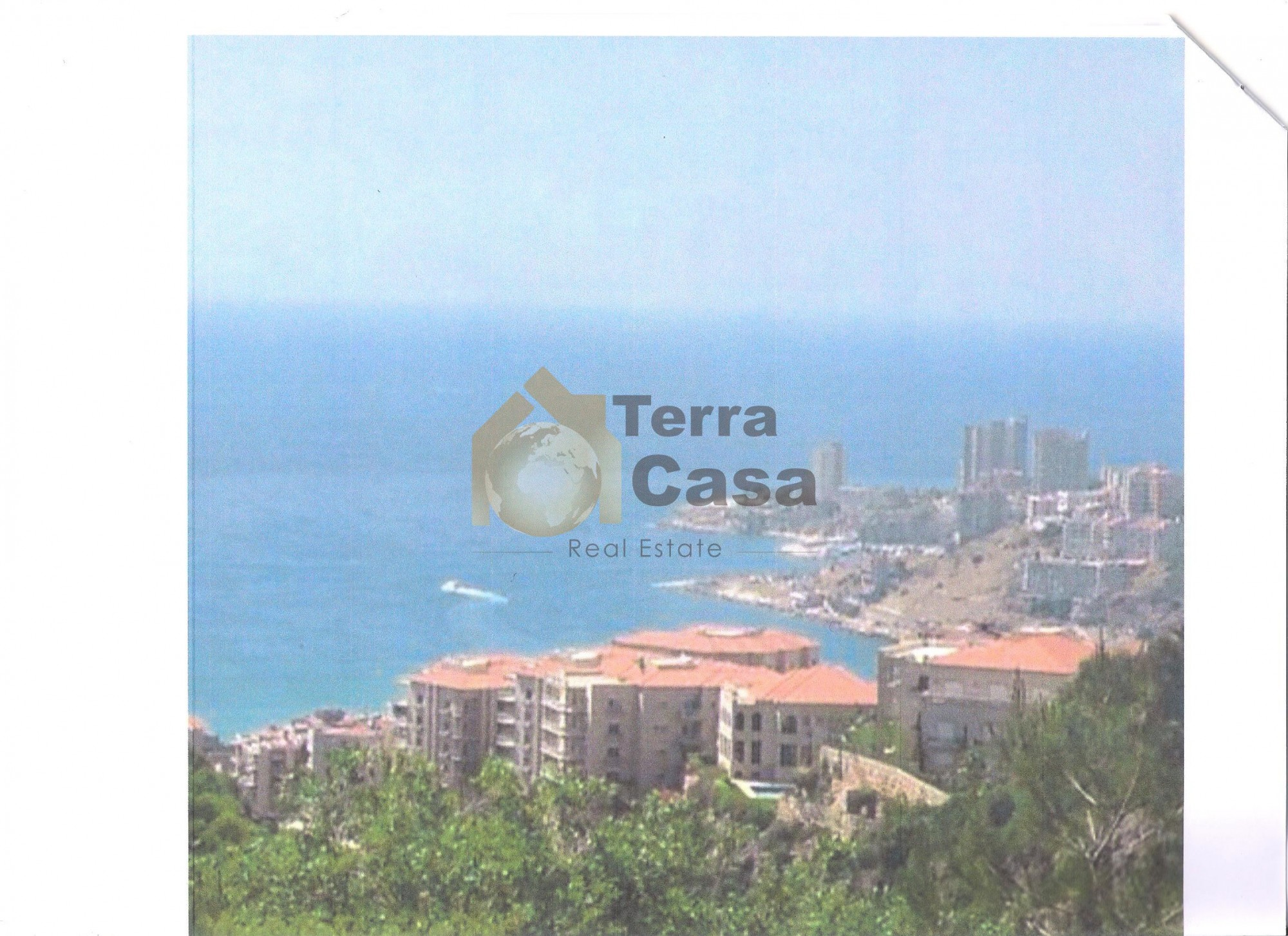 Land for sale in chnaneir with open sea view .