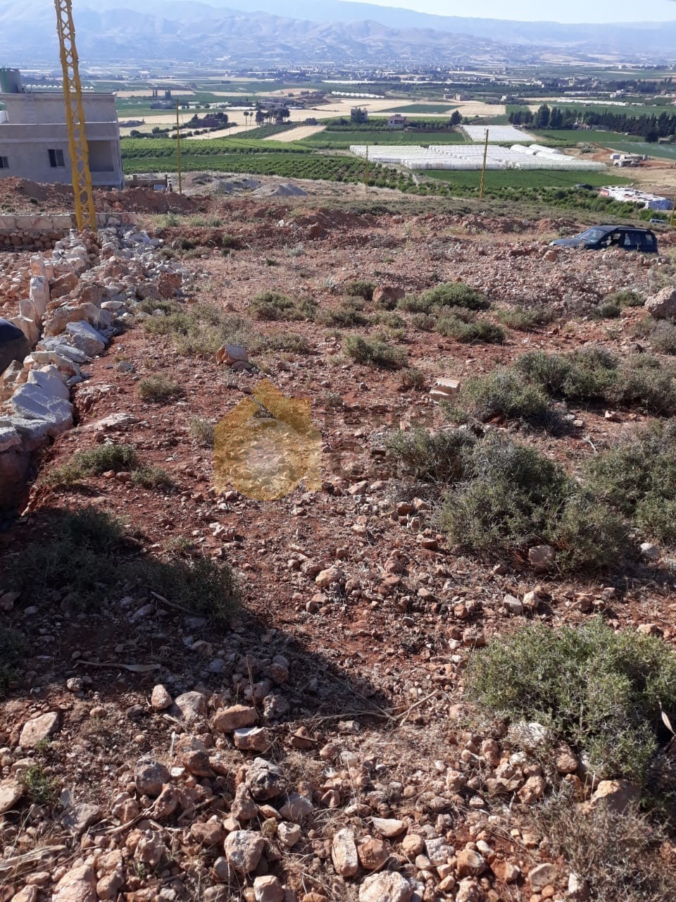 Land with construction permit cash payment.
