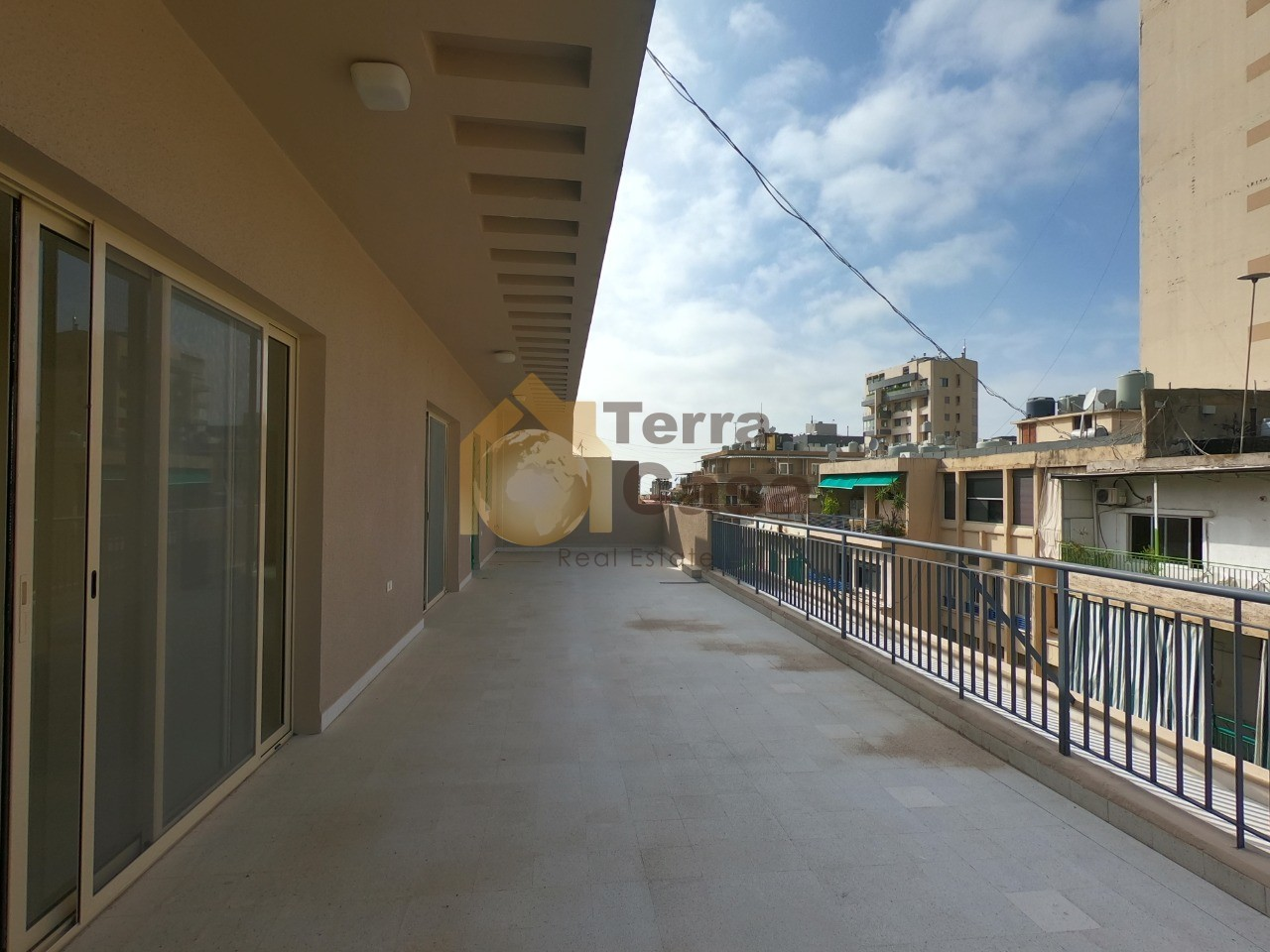 Jeitawi apartment with huge terrace for rent .
