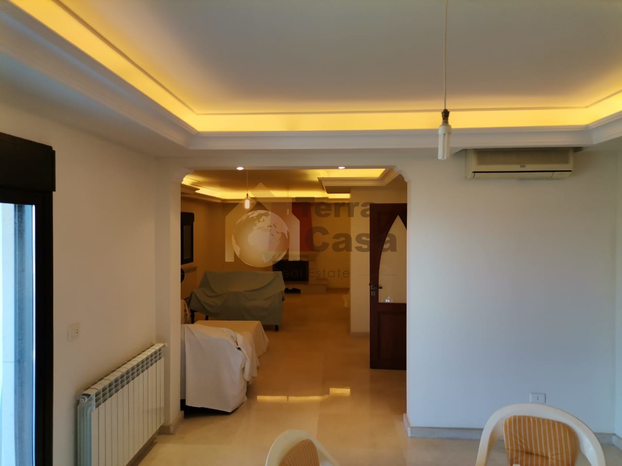 Fully furnished apartment for sale .