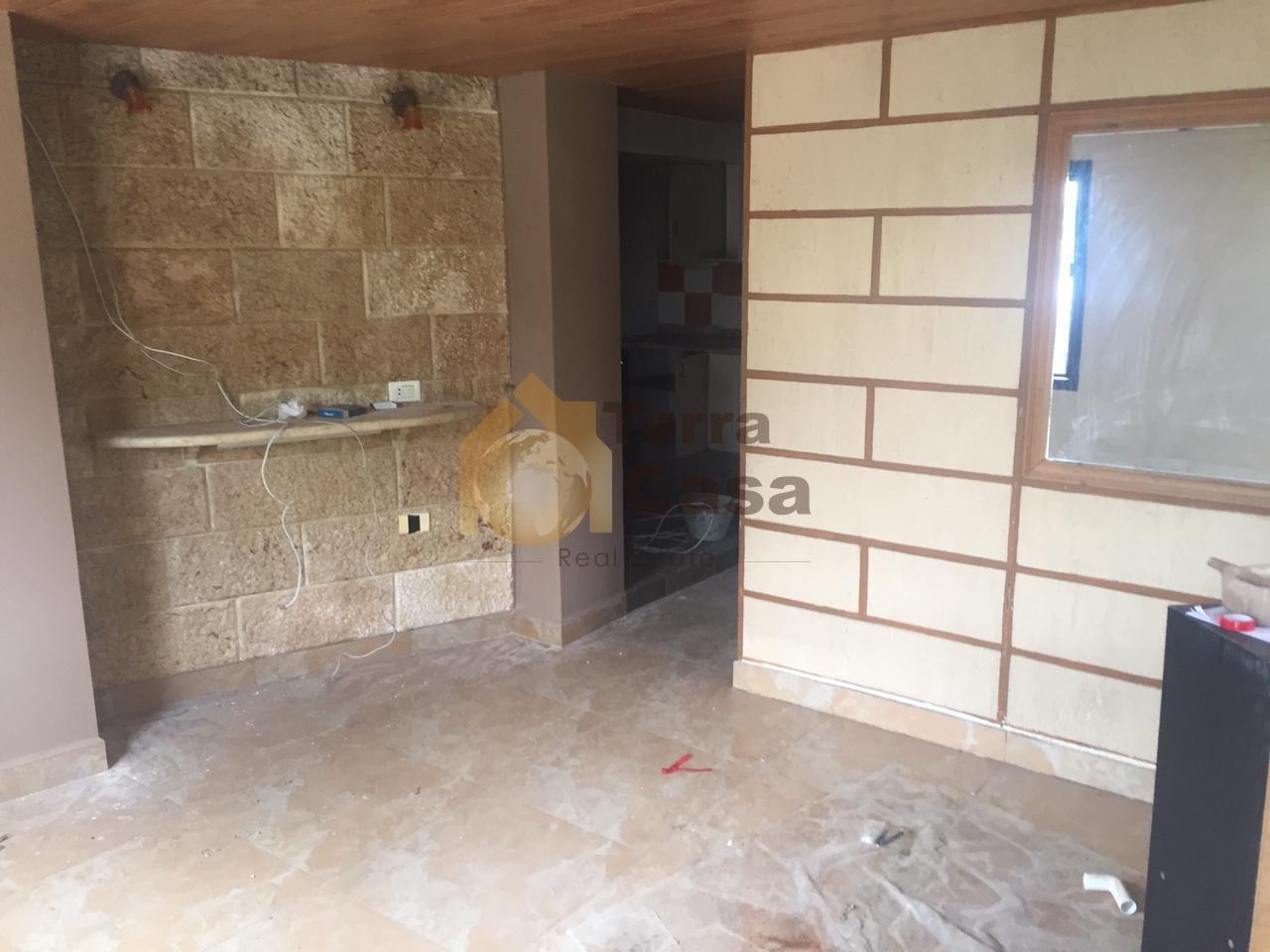 one bedroom apartment terrace 1500000 LBP per month