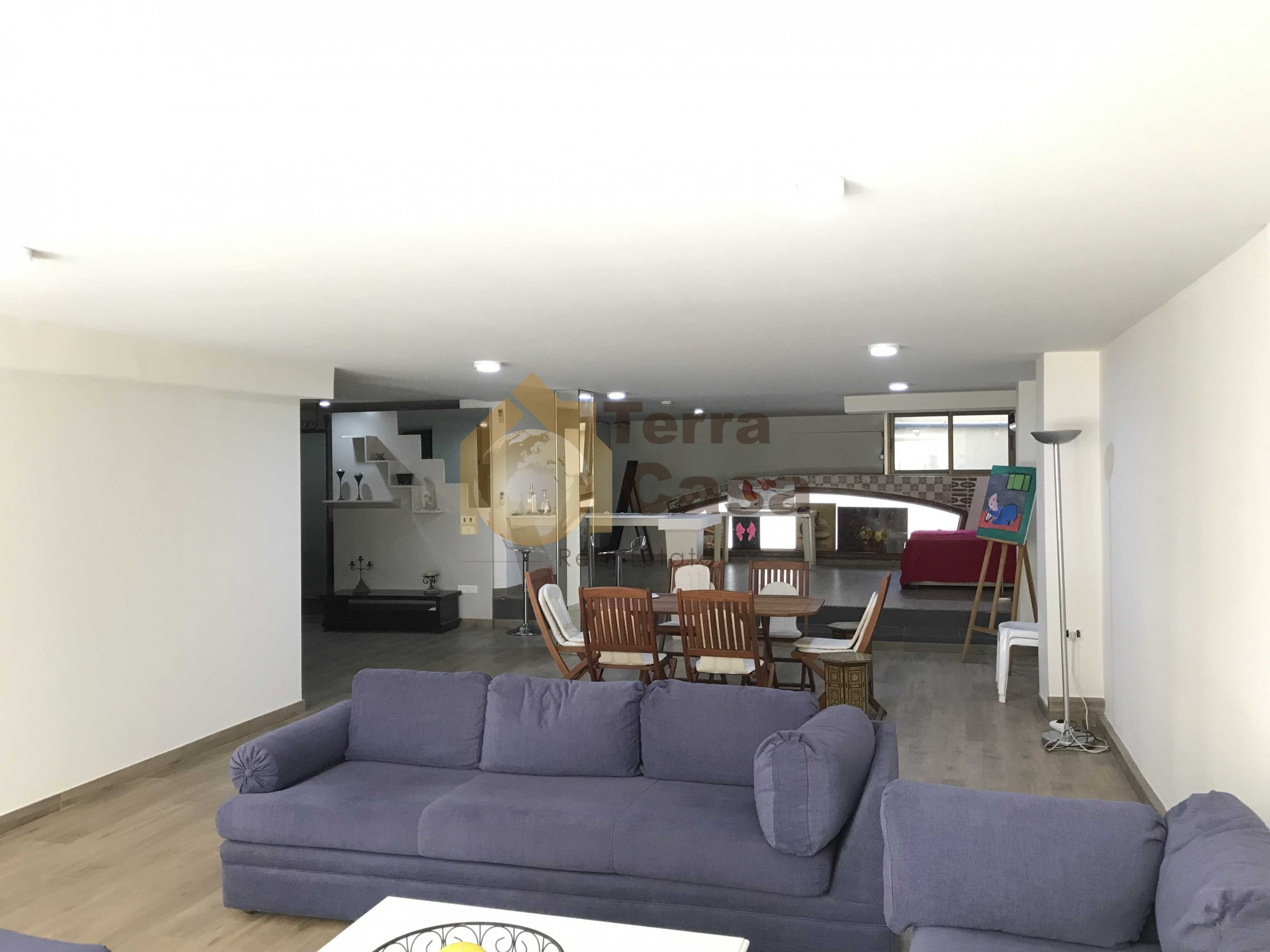 Fully furnished apartment terrace for rent in Gemayzeh