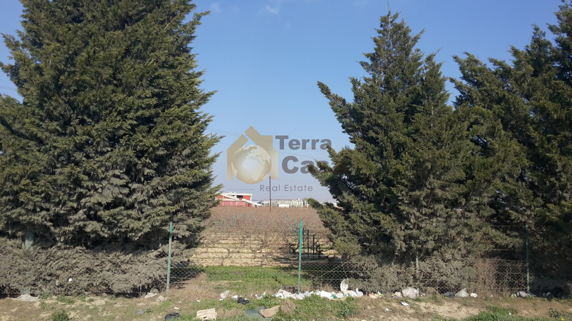 Land for sale in Zahle madinat el sinayia on the main road
